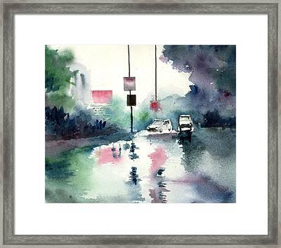 Rainy Day Framed Print by Anil Nene