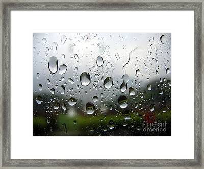 Rainy Day Framed Print by Yali Shi