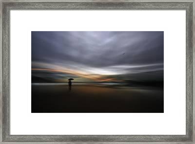 Rainy Night Framed Print by Santiago Pascual