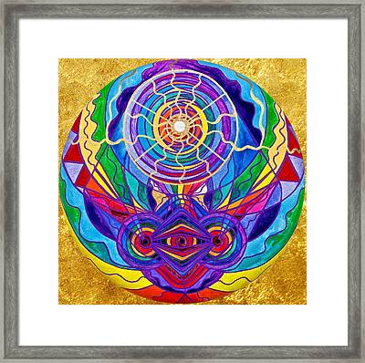 Raise Your Vibration Framed Print by Teal Eye  Print Store