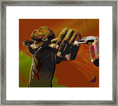Rakim Framed Print by  Fli Art