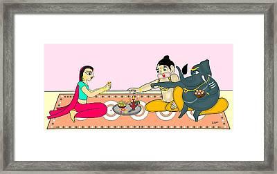 Raksha Bandhan Framed Print by Pratyasha Nithin
