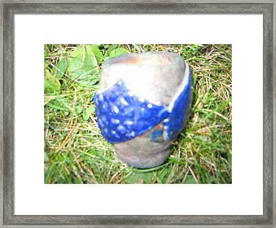 Raku Pinch Pot Framed Print by Julia Van Dine