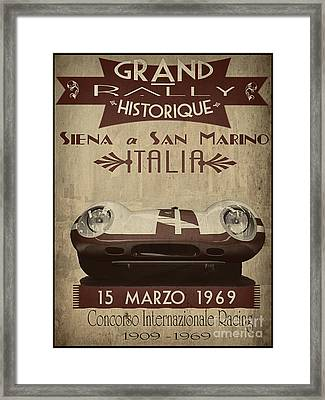 Rally Italia Framed Print by Cinema Photography