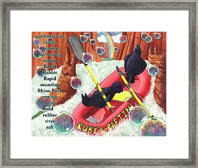 Rambunctious Ravens Framed Print by Catherine G McElroy