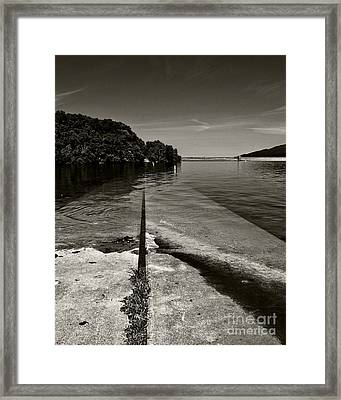 Ramp Into The Water Framed Print by Tom Gari Gallery-Three-Photography