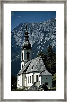 Ramsau Church Framed Print by Frank Tschakert