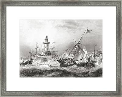Ramsgate, Kent, England In The 19th Framed Print by Vintage Design Pics