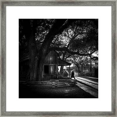 Ranch Hand Bw Framed Print by Marvin Spates