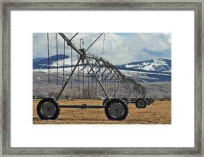 Ranch Scene 3 Framed Print by Kae Cheatham