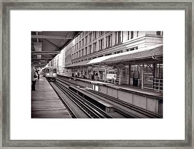 Randolph Street Station Chicago Framed Print by Steve Gadomski