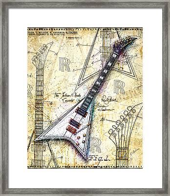 Randy's Guitar Framed Print by Gary Bodnar