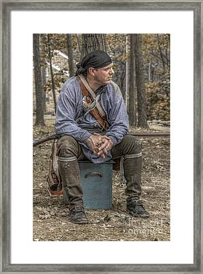 Ranger In Camp Framed Print by Randy Steele