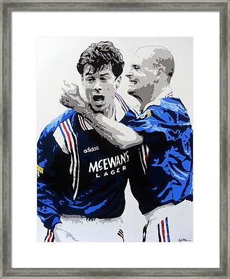 Rangers 9 In A Row  Framed Print by Scott Strachan