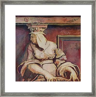 Raphael's Pillar Framed Print by Jenny Armitage