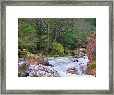 Rapids At The Rivers Bend Framed Print by Jeff Kolker