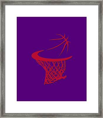 Raptors Basketball Hoop Framed Print by Joe Hamilton