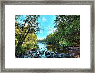 Raquette River Framed Print by David Patterson