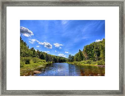 Raquette River Headwaters Framed Print by David Patterson