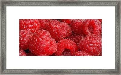 Raspberries Framed Print by Mark Platt