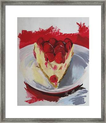 Raspberry And Cheese Framed Print by Marie-claude Gagnon