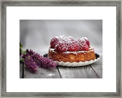 Raspberry Tarte Framed Print by Nailia Schwarz