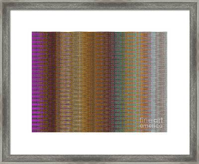 Raspberry Tonal Tapestry Framed Print by Ann Johndro-Collins