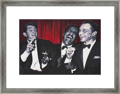 Rat Pack Framed Print by Luis Ludzska