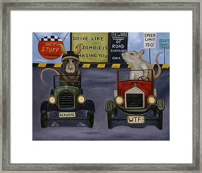 Rat Race 4 Framed Print by Leah Saulnier The Painting Maniac