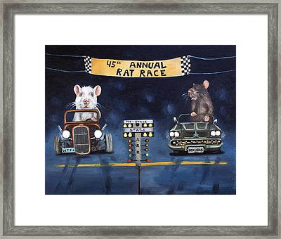 Rat Race Framed Print by Leah Saulnier The Painting Maniac