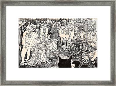 Rathbone Meets The Forest Lord Framed Print by Al Goldfarb