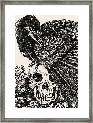 Raven And The Ring Framed Print by Margaryta Yermolayeva