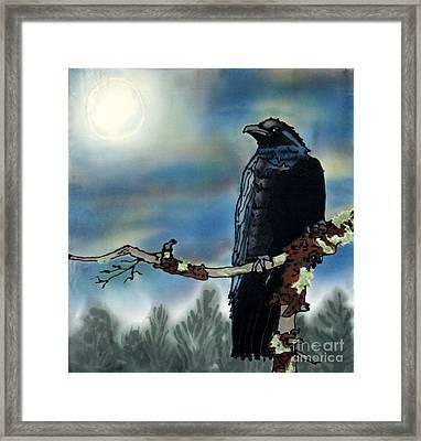 Raven Moon Framed Print by Linda Marcille