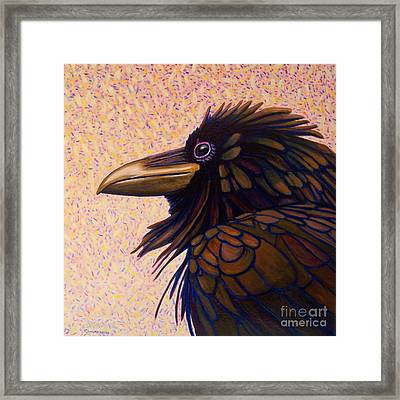 Raven Shaman Framed Print by Brian  Commerford