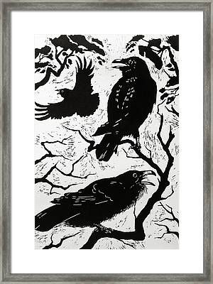 Ravens Framed Print by Nat Morley