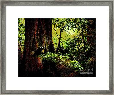 Ravens Of The Full Moon Night . 7d5443 Framed Print by Wingsdomain Art and Photography