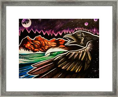 Raven's Wing Framed Print by Dimitrious Nichols