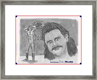 Ravishing Rick Rude Framed Print by Chris  DelVecchio