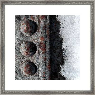 Raw Steel...on Ice Framed Print by Tom Druin