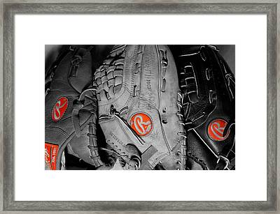 Rawlings In Red Framed Print by Jame Hayes