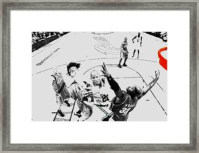 Ray Allen In Traffic Framed Print by Brian Reaves