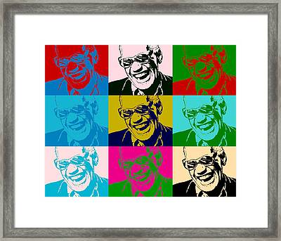 Ray Charles Pop Art Poster Framed Print by Dan Sproul