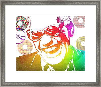Ray Charles Retro Tribute Framed Print by Dan Sproul