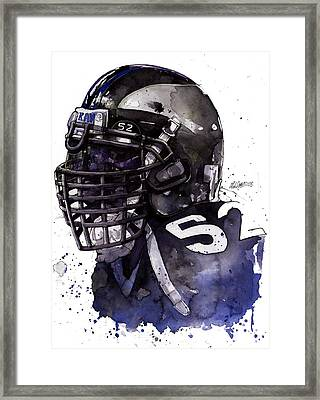 Ray Lewis -  Last Game Framed Print by Michael  Pattison