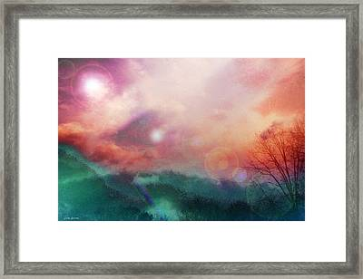 Ray Of Hope Framed Print by Linda Sannuti