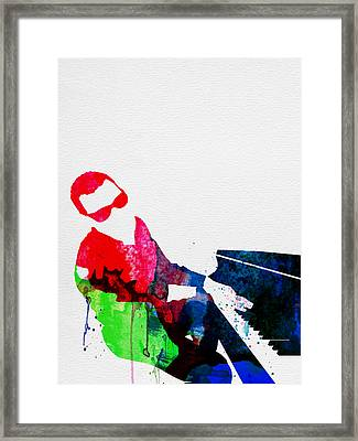 Ray Watercolor Framed Print by Naxart Studio