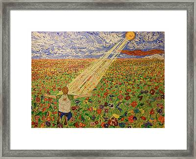 Rays Of Life Framed Print by Tim Compton