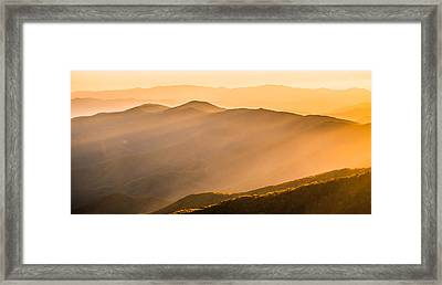 Rays Of Light Framed Print by Shelby Young