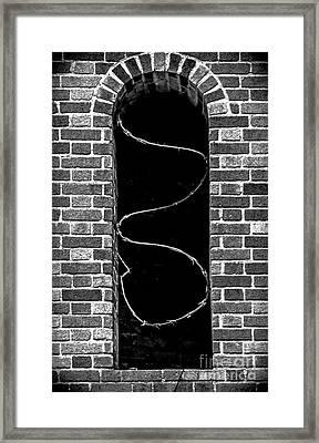Razor Wire Window Framed Print by James Aiken