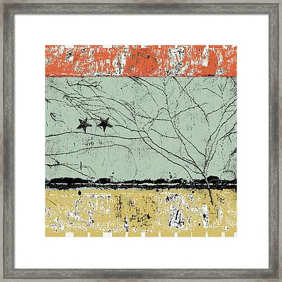 Reaching For Stars Photomontage Framed Print by Carol Leigh